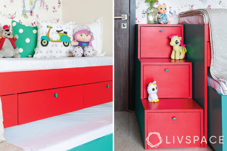 trundle bed-storage in bed-hidden storage ideas
