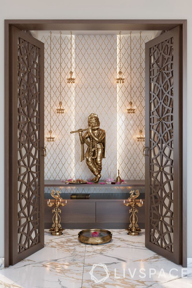 pooja room door designs-jaali designs-wooden jaali door