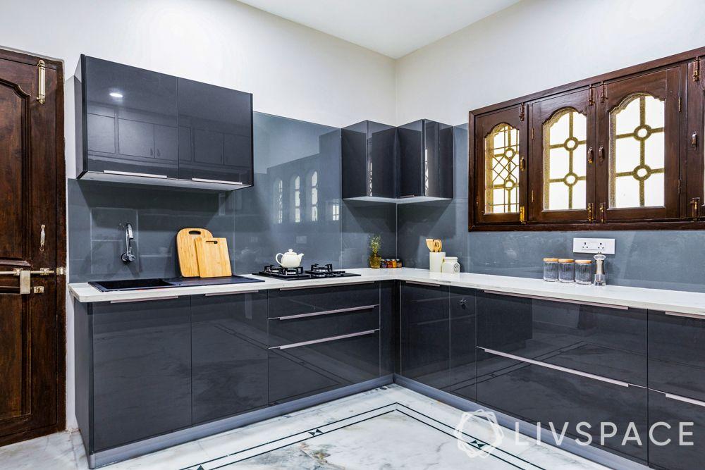 glossy vs matte finish cabinets-high gloss