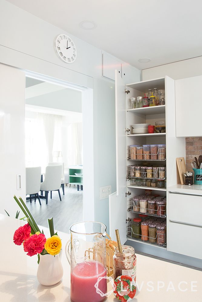 kitchen designs-iwhite kitchen-pantry pull out