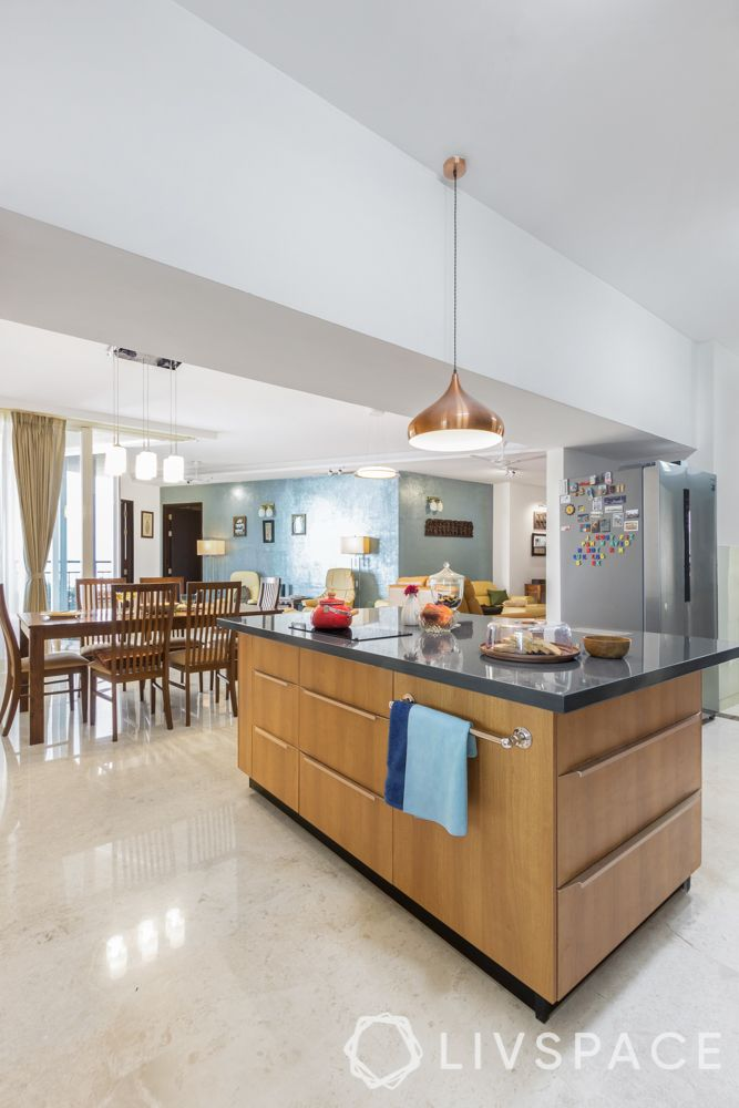 3bhk interior plan-kitchen island