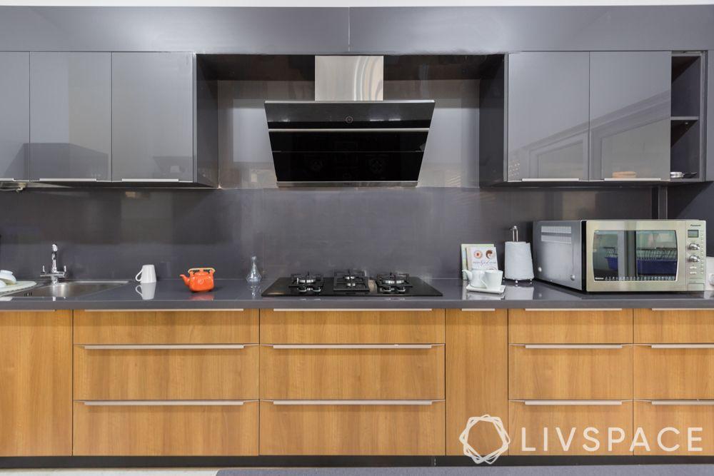 3bhk interior plan-kitchen base cabinets
