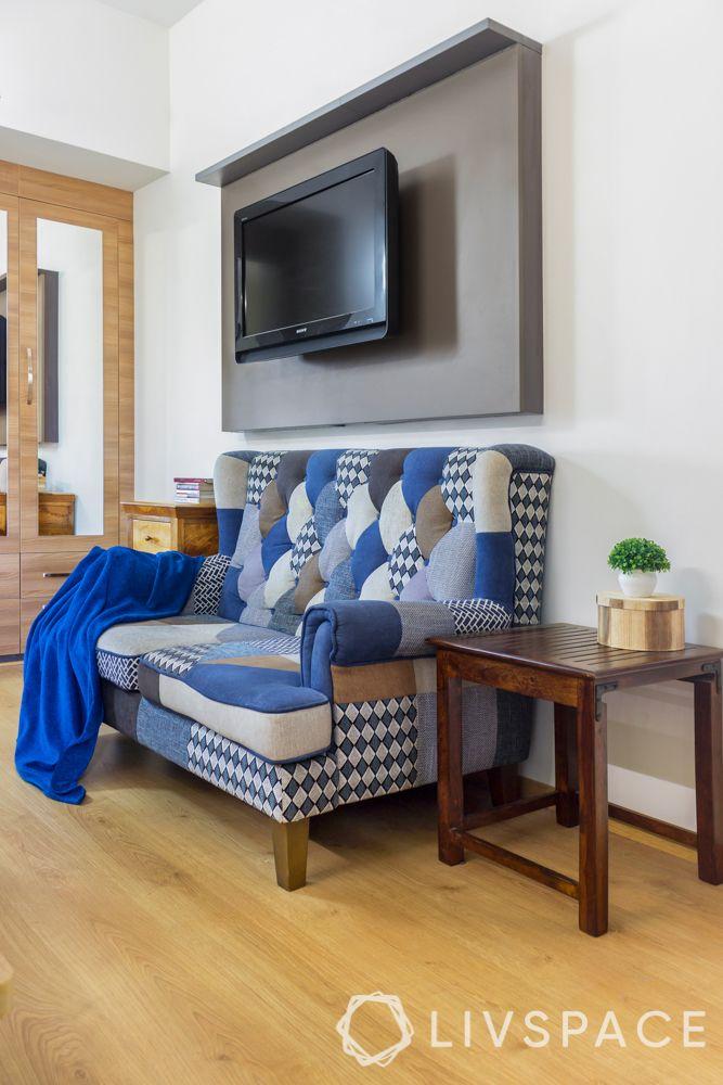 wooden flooring-tv unit designs