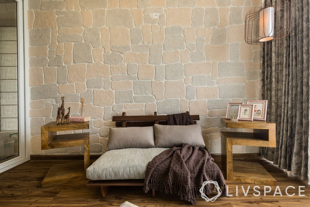 best 3BHK interior-design-POP wall-sidetables-daybed