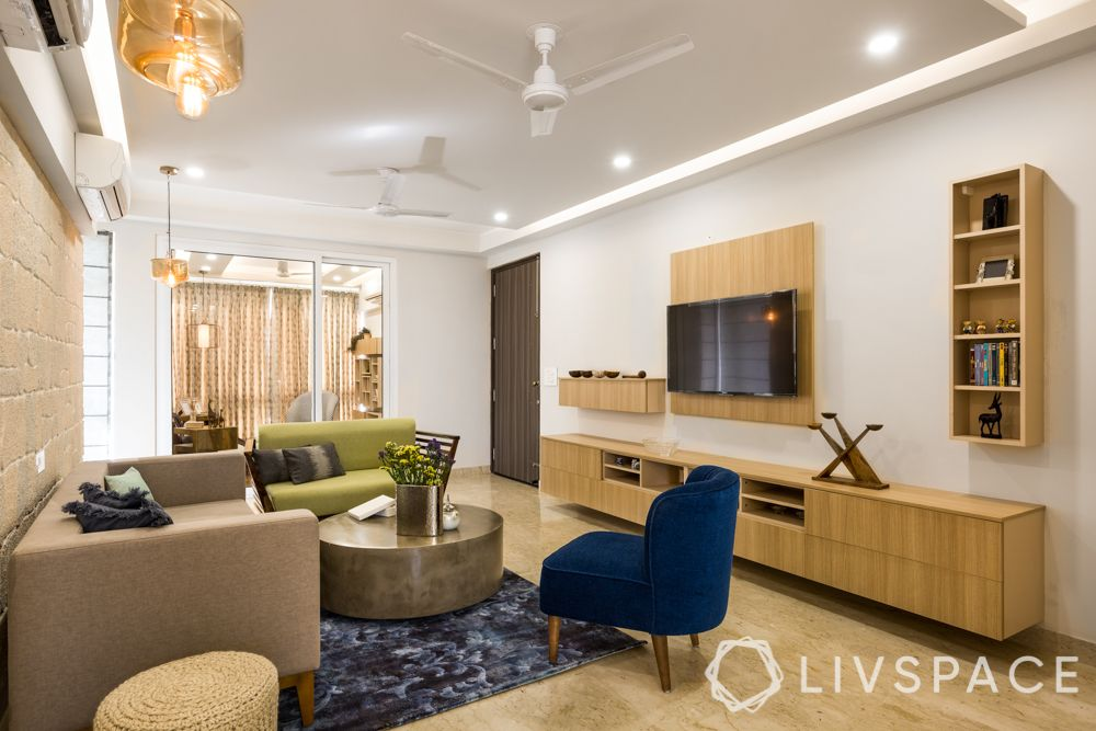 best 3BHK interior design-living room