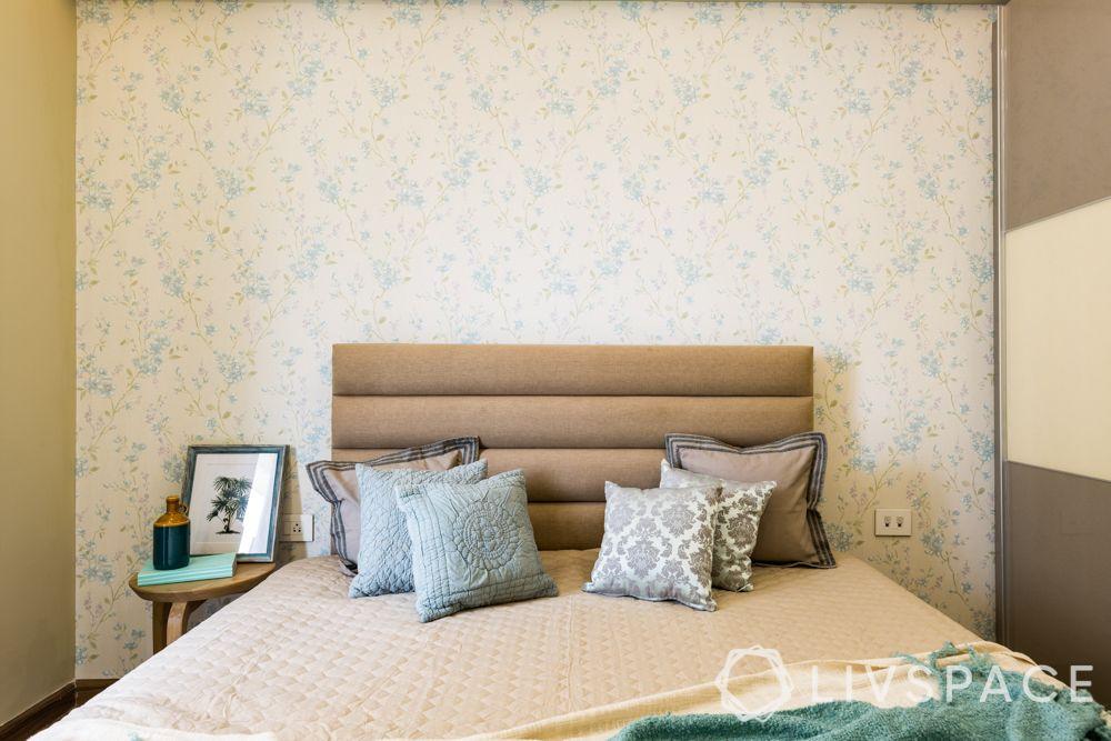 Scandinavian interiors-fabric headboard-cushions