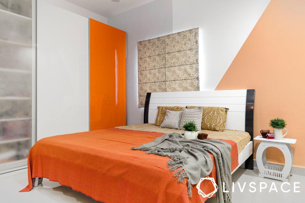 bedroom vastu colours-orange