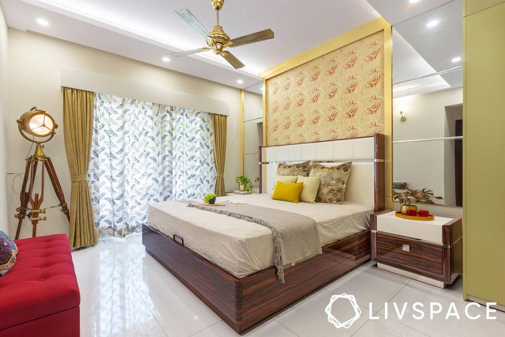 vastu colours for bedroom-gold