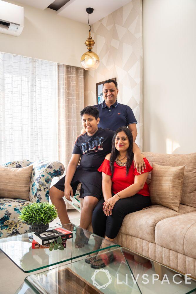 2 bhk home decoration-family-pretty corner