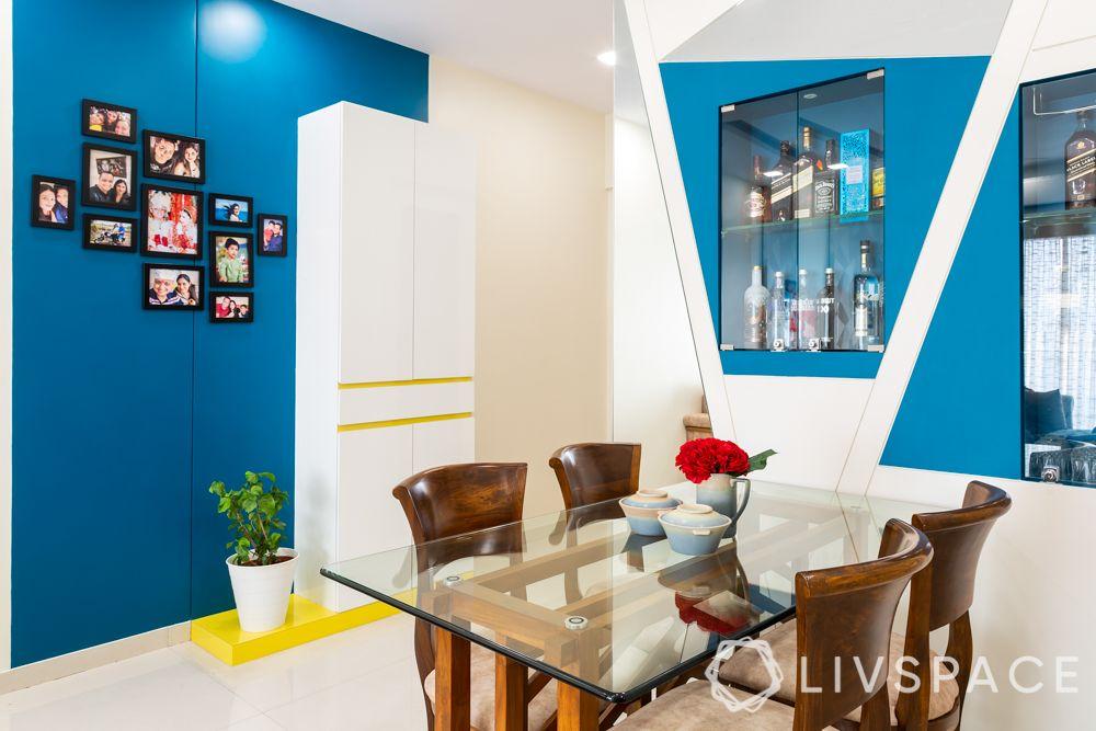 2 bhk home decoration-living room-shoe cabinet design