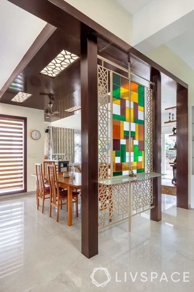 hall dining partition-stained glass