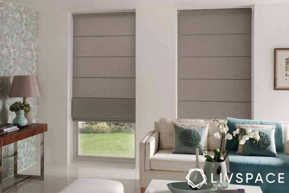 window blinds-grey blinds
