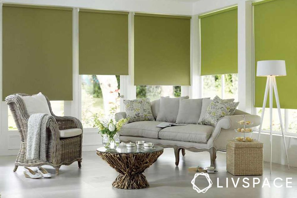 window blinds-green blinds-roller blinds