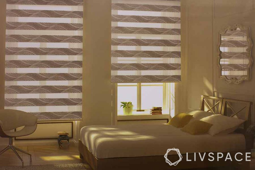 zebra blinds-bedroom