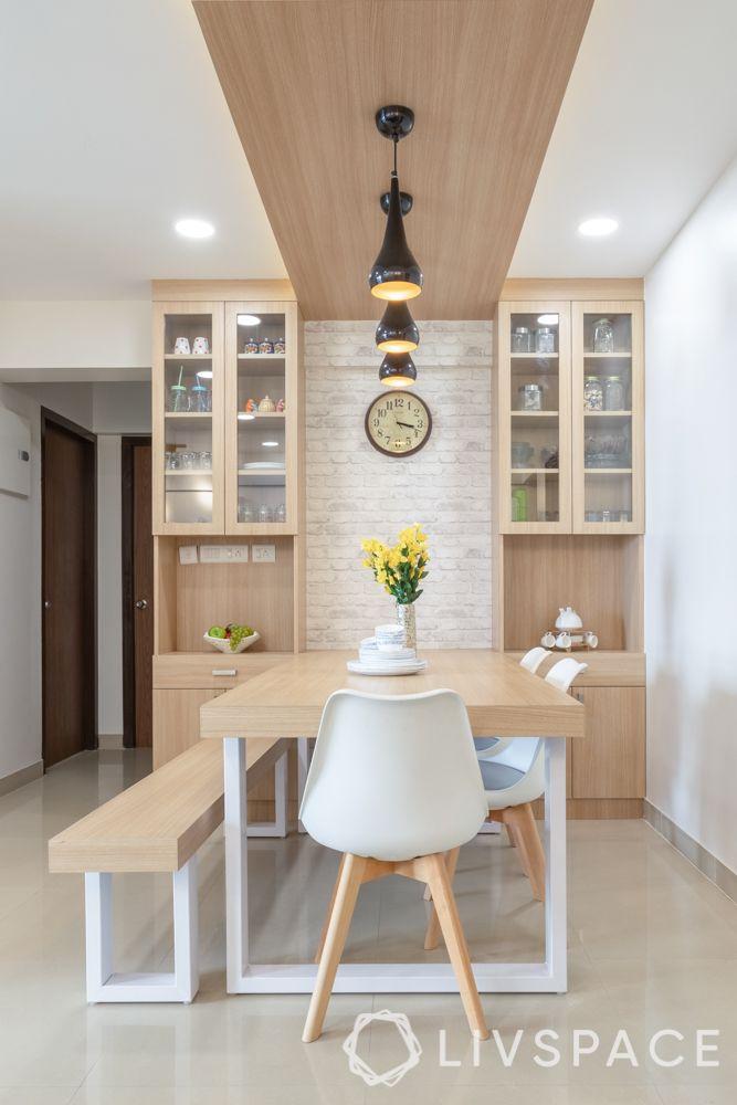 laminate vs veneer-laminate dining table-laminate bench
