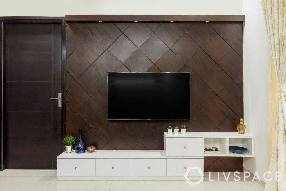 veneer and laminate finishes-TV unit