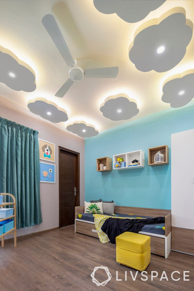 false ceiling designs-kids room