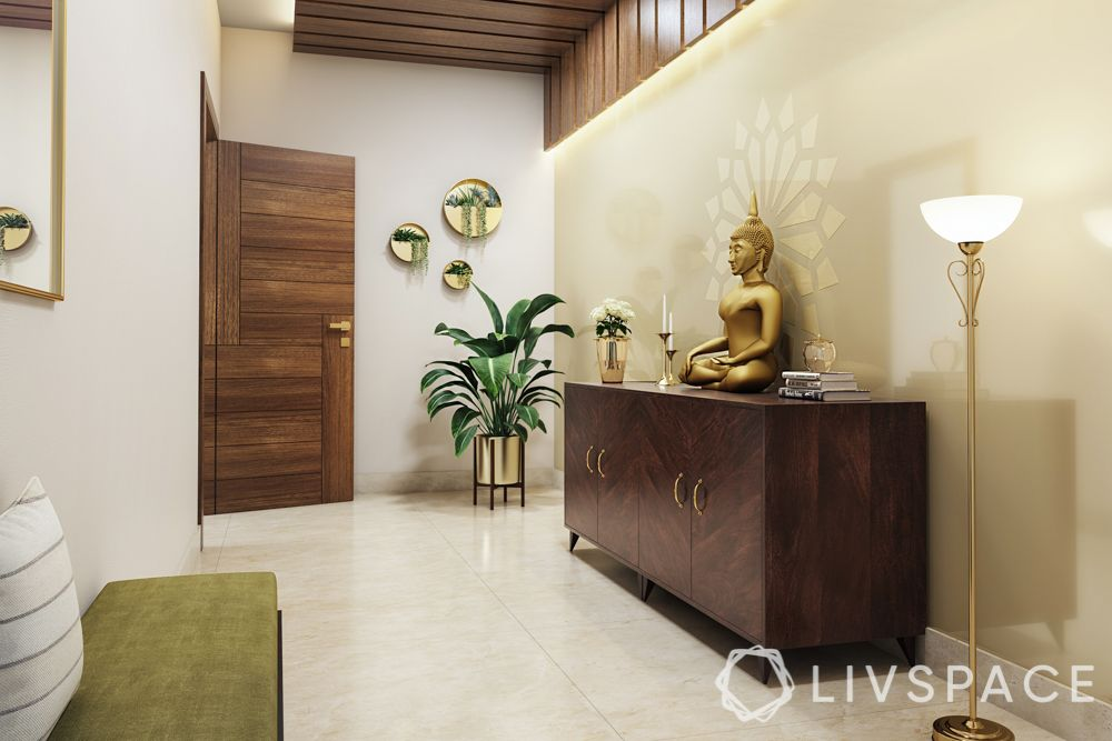 vastu for home entrance-foyer-buddha-lighting