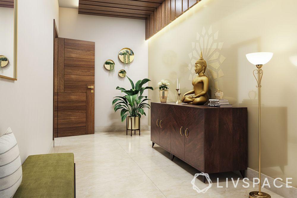 vastu for home entrance-foyer-buddha-lighting