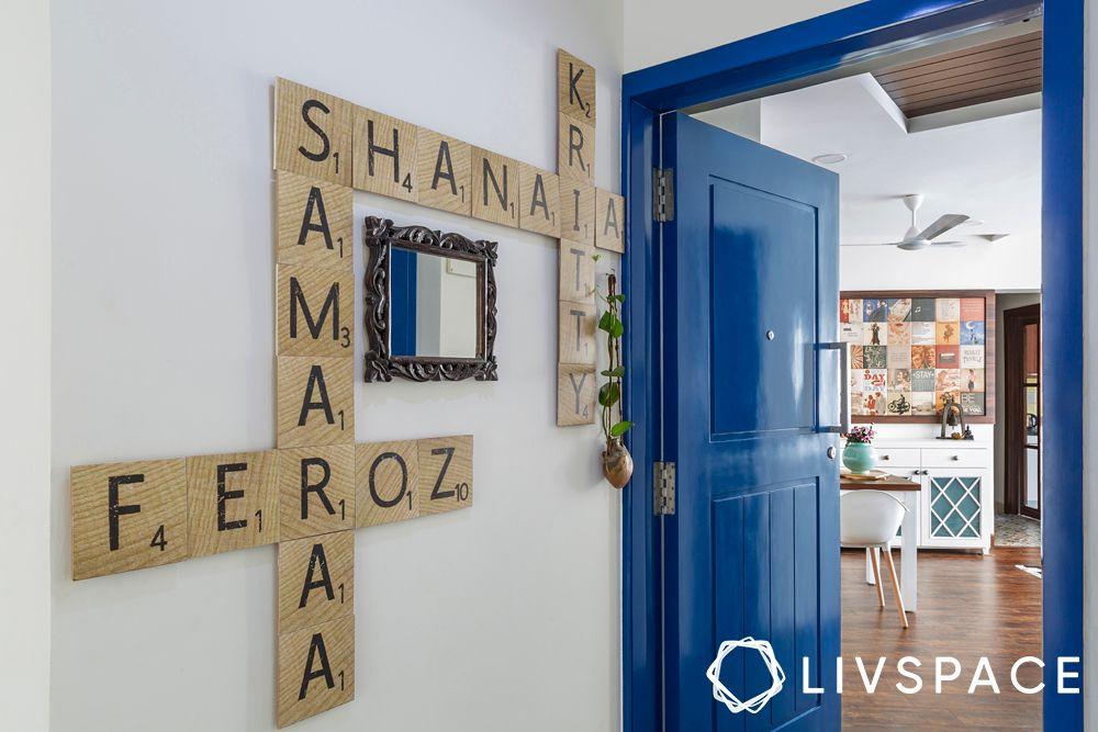 vastu for entrance-blue door designs