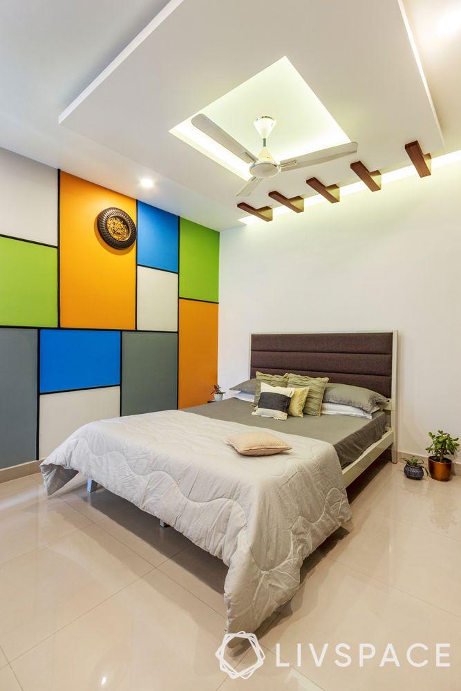 false ceiling design for bedroom-inverted cove-wooden details