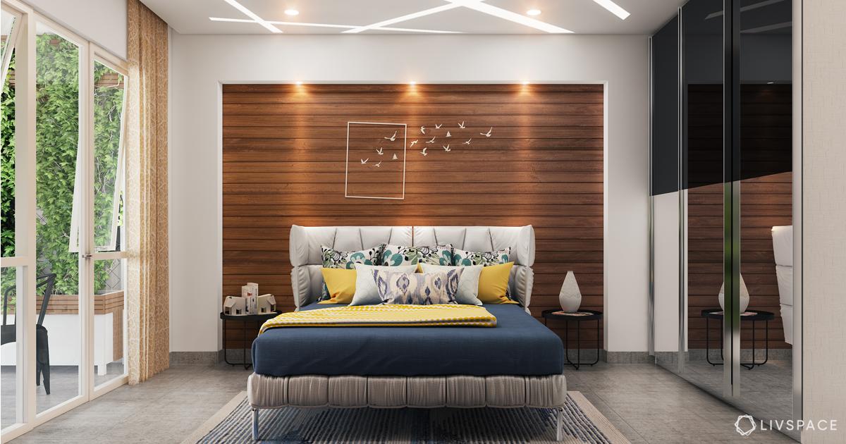 false ceiling design for bedroom-zig zag patterned