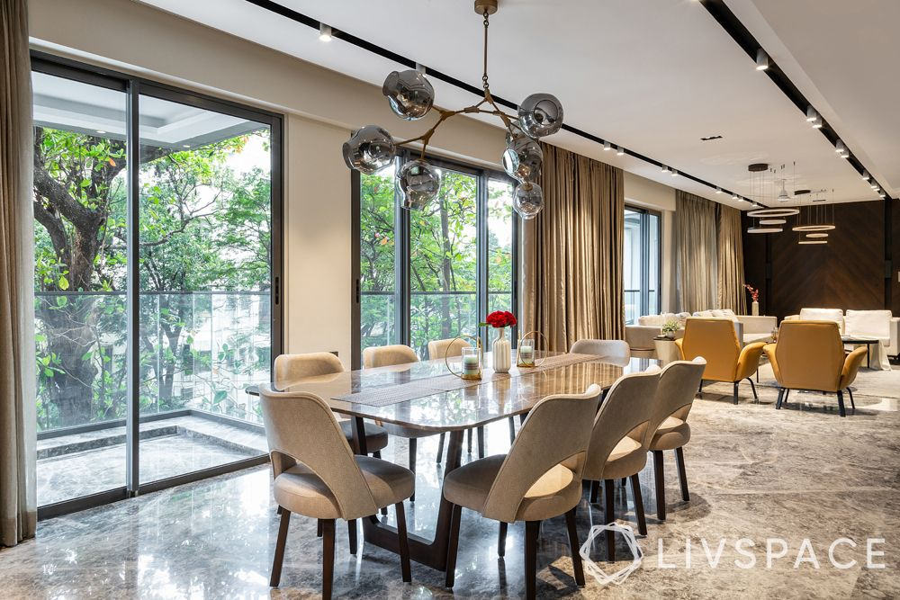 interior house design-dining area-windows