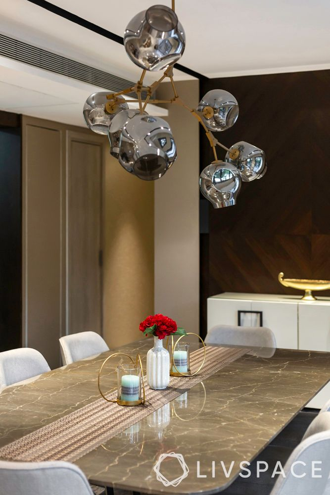 luxury 7bhk-marble table top-chandelier