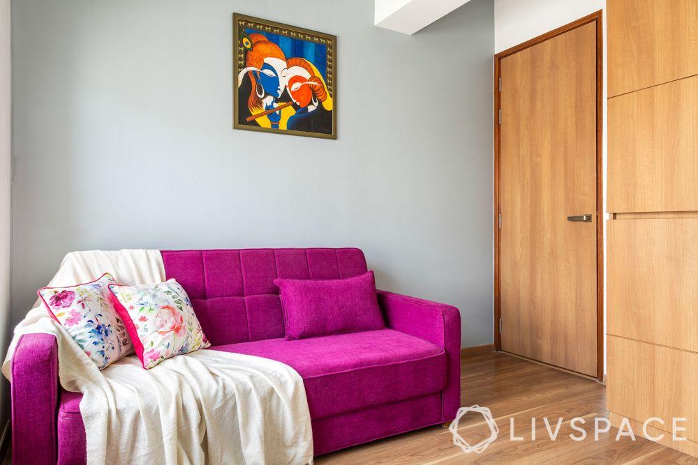 designer for homes-pooja room-sofa cum bed