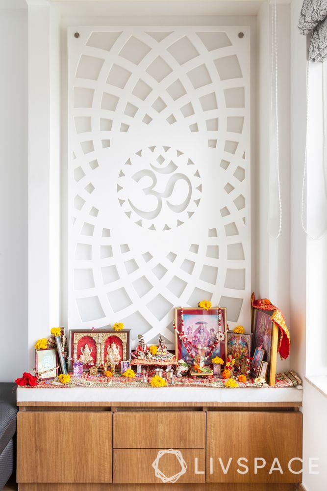 mumbai interiors-pooja unit-storage