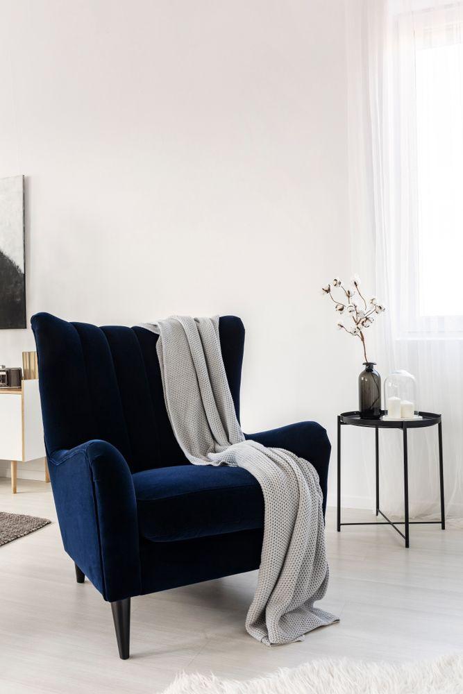 armchair design-blue armchair
