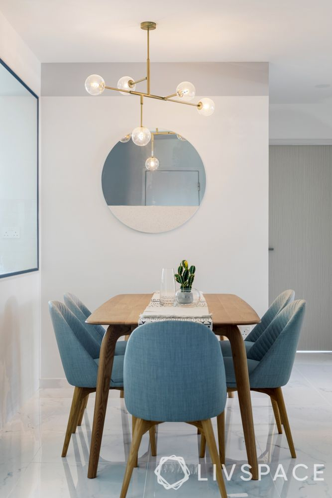 dining room-blue chairs