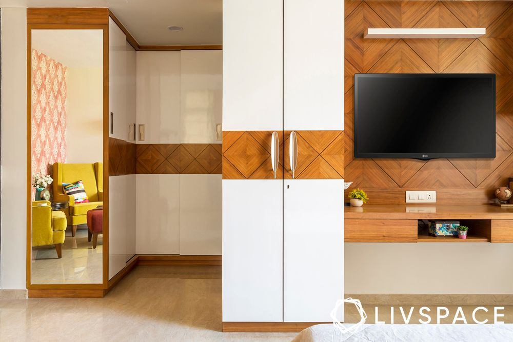bedroom interior-wardrobe design-U shaped wardrobe