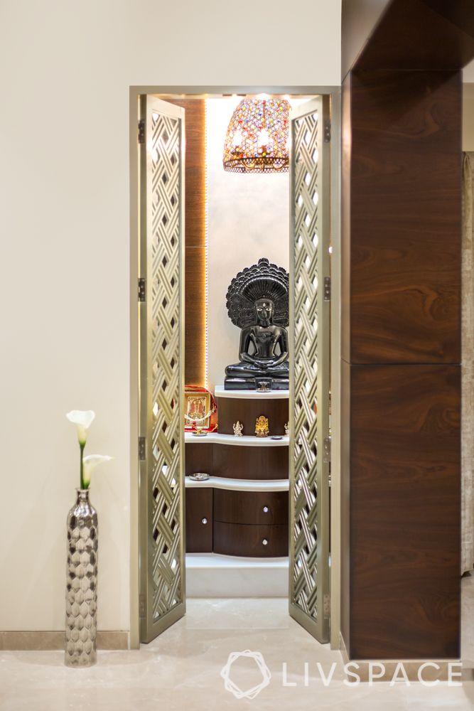 pooja room designs for indian homes-jaali door