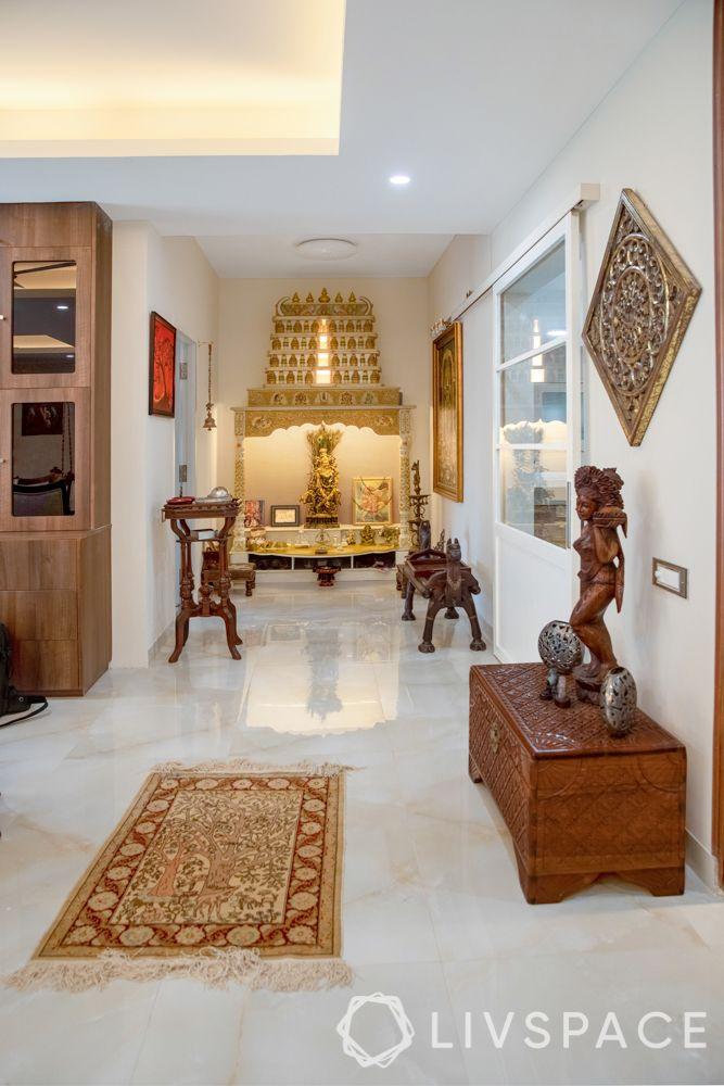 south inian pooja room-mandir designs
