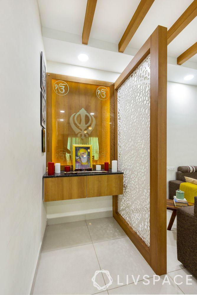 pooja corner designs-wooden pooja unit