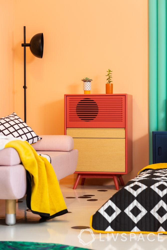 decorating wall ideas-colour blocking
