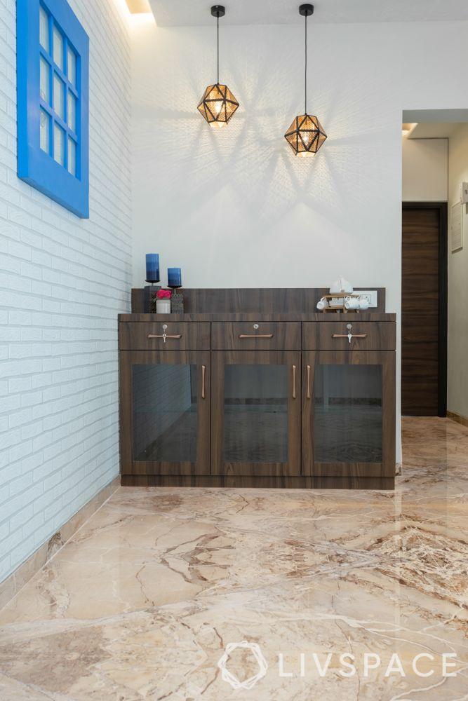 mumbai interiors-flooring-crockery unit