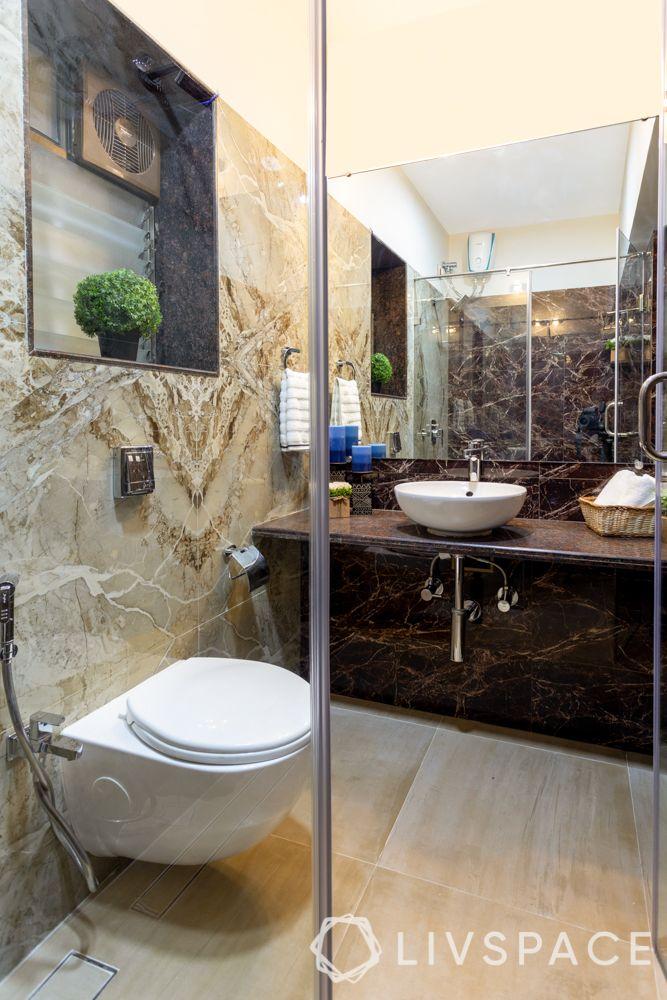 best home designers-bathroom-mirror-granite counter