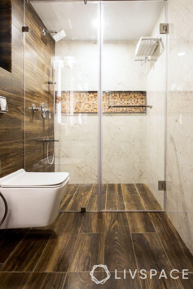 mumbai interiors-bathroom-mosaic tiles-wet area-dry area