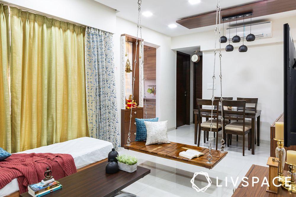 2 bhk home interior-living room designs