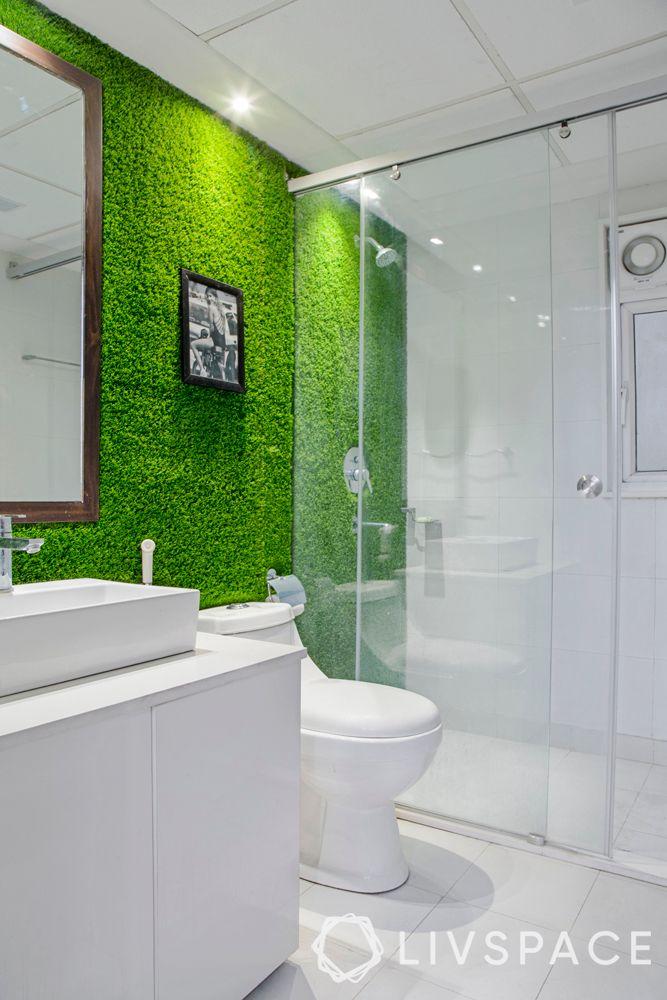 bathroom design India-vertical garden-shower cubicle