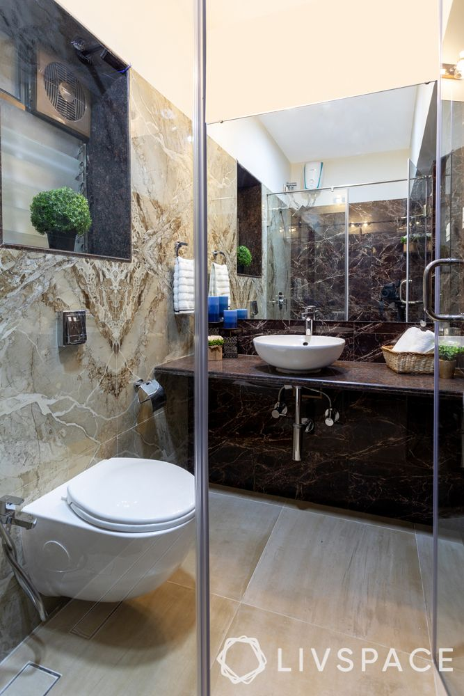bathroom design India-toilet cleaning-sink-counter