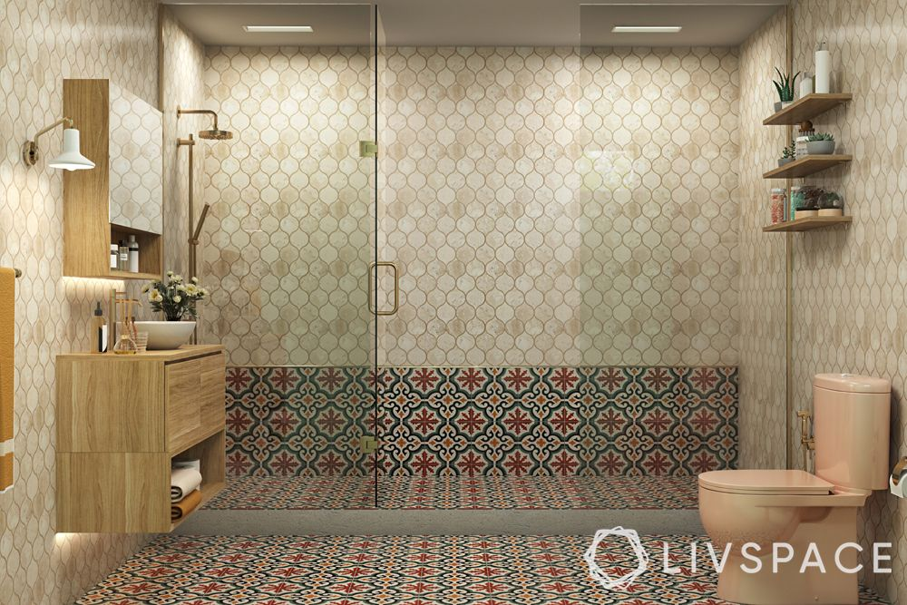 bathroom design India-walls-floor-cleaning