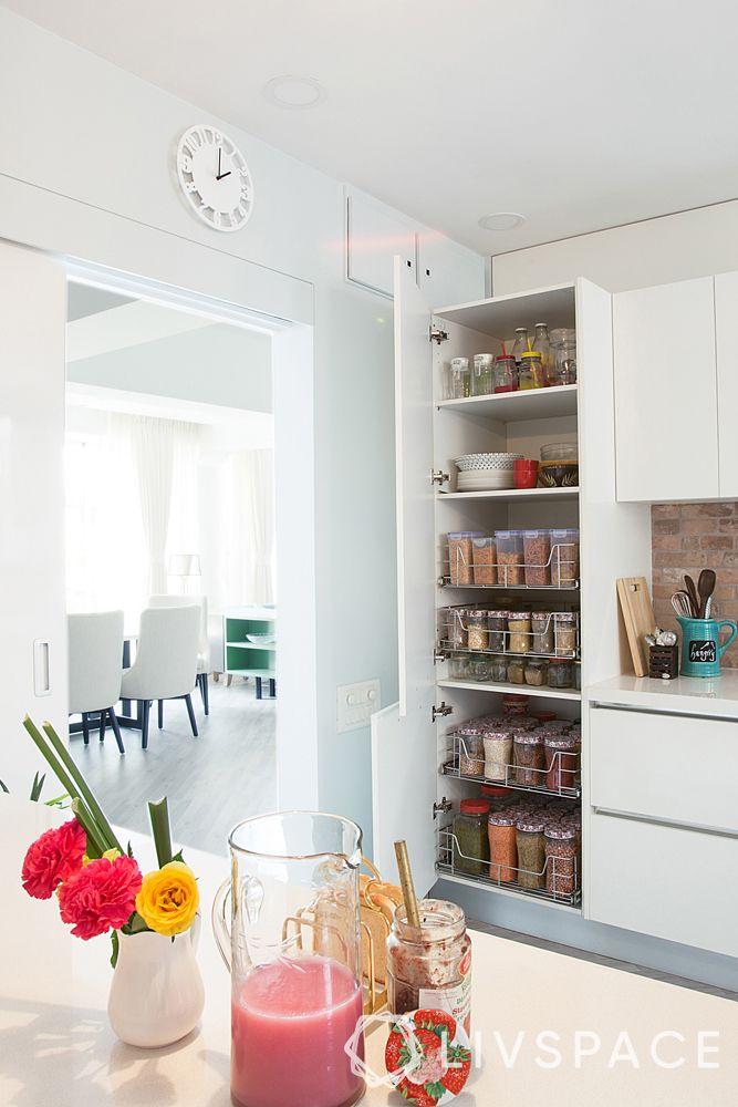 small kitchen design-modular storage-tall unit-modular kitchen