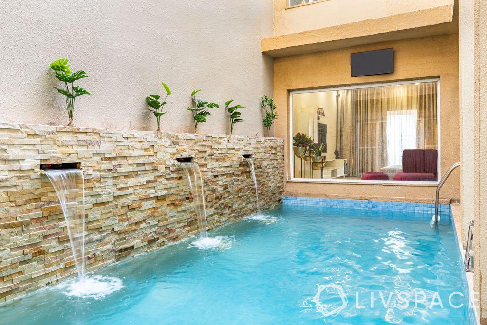 duplex house interior - pool