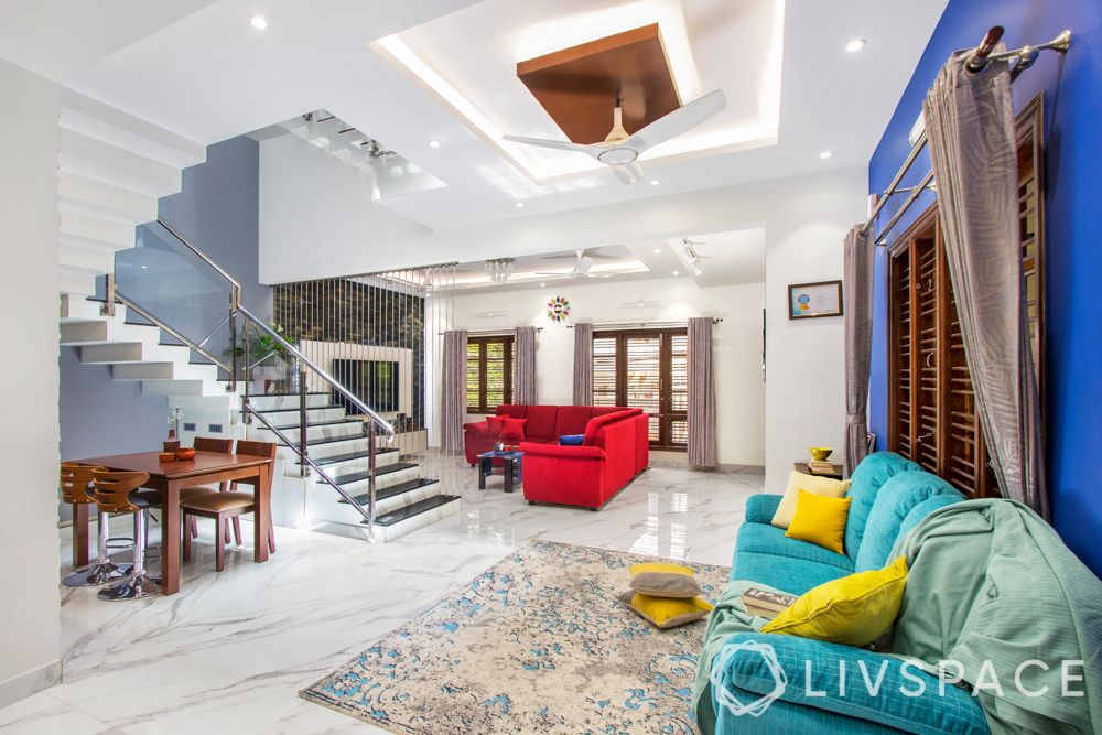 duplex house interiors - living room