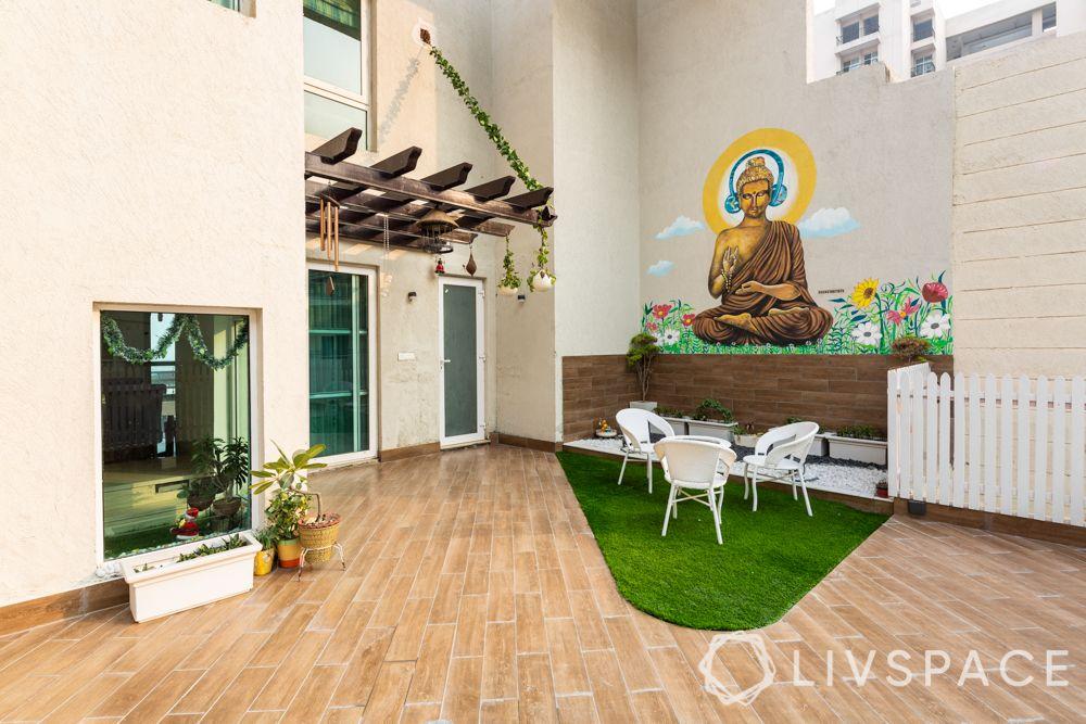 duplex house interiors  - terrace