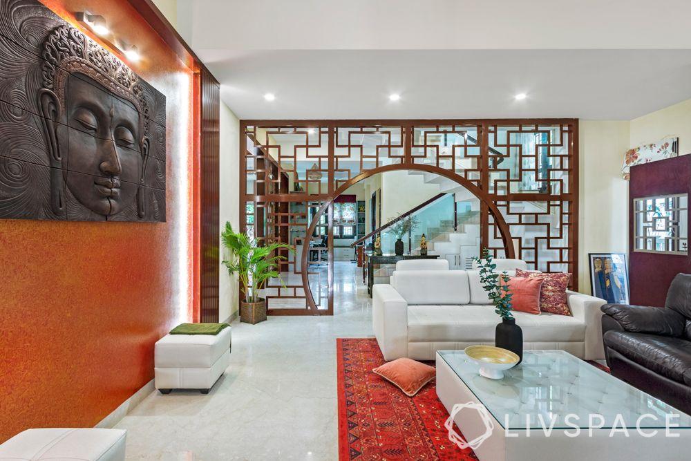 duplex house interiors - archway