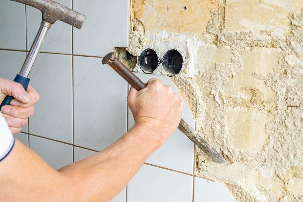 demolition-kitchen tiles